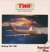 New Herpa Wings 502504 Twa Trans World Airlines Boeing 747-200 Model 1500 Scale