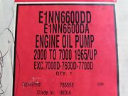 Used Oil Pump Ford New Holland Tractor 2000 3000 5000 7000 E1nn6600dd 10-c1