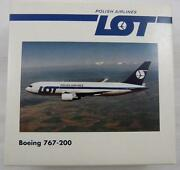 New Herpa Wings 504256 Lot Polish Airlines Boeing 767-200 Mib 1500 Retired Mint