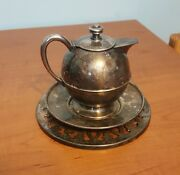Bernard Rice's Sons 3738 Teapot And Platter And Reed And Barton 1644 Silver Trivet