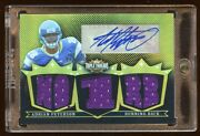 Adrian Peterson 2007 Triple Jersey Rc Auto D 9/9 Gold Amazing Find Vikings Star