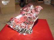 Steuben Eagle Glass Crystal W/ Red Box Signed 5.5