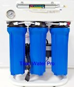 Ro Reverse Osmosis Water Filter 6 Stage System 150 Gpd-booster Pump-uv Light