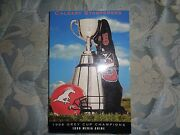 1999 Calgary Stampeders Media Guide Yearbook 1998 Grey Cup Champs Cfl Program Ad