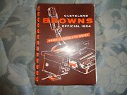 1954 Cleveland Browns Media Guide Yearbook Nfl Champions Press Book Program Ad