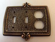 Vintage Amerock The Bonaventure Collection Dbl Lt Switch And Outlet Plate C-8887rb