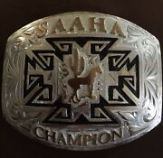 Western Silver Champion Belt Buckle Menand039s Or Womens