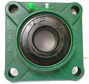 1/2 Bearing Ucf201-8 Black Oxide Plated Insert + Square Flanged Cast Housing Mo