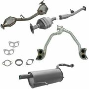 Complete Exhaust Muffler Catalytic Converter System For 03-05 Subaru Forester