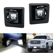 40w Cree Led Pods W/foglight Cover Bracket Mounts Relay For 2014-15 Gmc 1500