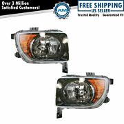 Headlights Headlamps Left And Right Lamp Pair Set For 07 08 Honda Element Lx Ex