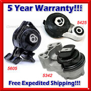 M199 Fits 2011-2014 Ford Edge 3.5l 3.7l W/ Auto Motor And Trans Mount Set 3pc