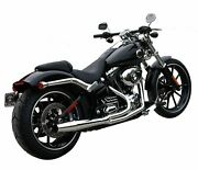 Chrome Thunderheader 2 Into 1 Exhaust Pipe Header System 12-17 Harley Softail