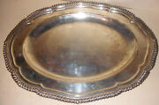 Antique English Elkington And Co. Sterling Silver Serving Tray