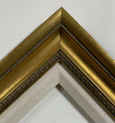 3.5 Antique Gold Ornate Rococo Linen Picture Frame Wedding 155gl Frames4art