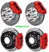 Wilwood Disc Brake Kit1970-1973 Fordmercury11 Drilled Rotorsred Calipers And039