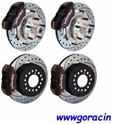 Wilwood Disc Brake Kit,complete,1964-1972 Chevelle,black,drilled Rotors,chevy '