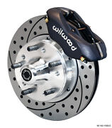 Ford Mustang Ii,pinto Wilwood Forged Dynalite Front Big Brake Kit,drilled Rotors