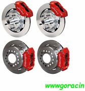 Wilwood Disc Brake Kit1959-1964 Chevy Impalabel Air11 Rotorsred Calipers