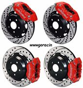 Wilwood Front And Rear Brake Kit,fits Subaru Impreza Coupe,wrx,12drilled Rotors