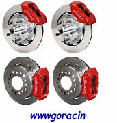 Wilwood Disc Brake Kit1955-1957 Chevy 150210bel Air4 Piston Red Calipers