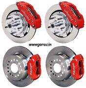 Wilwood Disc Brake Kit69-70 Impala12 Drilled Rotors6/4 Pistonred Calipers