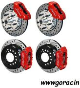 Wilwood Disc Brake Kit1965-1969 Ford Mustang11 Drilled Rotorsred Calipers