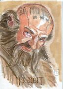 The Hobbit An Unexpected Journey Sketch Card By David Rabbitte