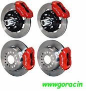 Wilwood Disc Brake Kit,1955-1957 Chevy,12 Drilled Rotors ,red Calipers,210,55