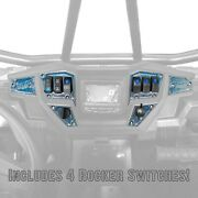 Rzr Xp 1000 Custom Dash Switch Panel Kit For 4.3 Gps Usa Made Cnc Billet Silver