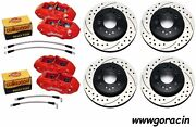 Wilwood Disc Brake Set1965-1982 Corvette6/4 Piston Red Calipersdrilled Rotors