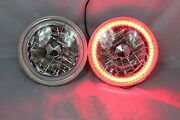 1975-1980 Chevy K10 K20 K5 Blazer 7 Round 6014/6015/6024 Red Led Smd Halo ...