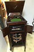 Antique Baldwin Victrola Made In 1926 29 Albums Included. Great Condition