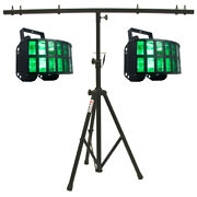 American Dj 2 Aggressor Hex Led Sound Activated Derby Beam Light And T-bar Stand
