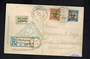 1931 Iceland Graf Zeppelin Postcard Rppc Cover To Germany Lz 127 C9 And C10