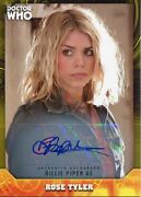 Doctor Who Signature Series Yellow [25] Autograph Card B Piper As Rose Tyler