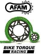 Ducati 1199 Panigale R 520 + Pcd 13-15 Afam Upgrade Green Chain And Sprocket Kit