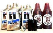 Harley Davidson Mobil 1 Synthetic 20w50 Oil Change Kit Touring Twin Cam Evo Hd