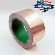 Copper Foil Tape - 2in X 82ft / 28yds / 25m - Emi Conductive Adhesive