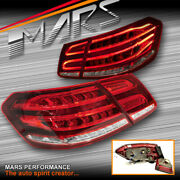 Clear Red Full 3d Led Tail Lights For Mercedes-benz E Class W212 Sedan 2009-2013