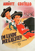 Abbott And Costello In Mexican Hayride Rare 1sh From 1951