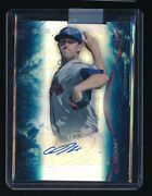 Aaron Northcraft 2014 Bowman Sterling Prospect Blue Refractor Auto 01/25 Braves