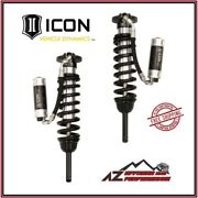 Icon 0-3.5 2.5 Extended Travel Rr Cdcv Front Coilover Shocks For 05-21 Tacoma