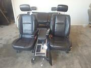2008-2014 Nissan Titan Pro-4x Black Leather Front And Rear Seats W/console Driver