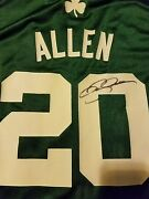 Ray Allen 20 Boston Celtics Signed Replica Jersey W/proof Size Large Authentic