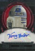 Star Wars 40th Anniversary Red Autograph Card [1/1] Kenny Baker As R2-d2