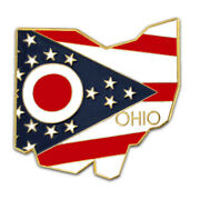 Pinmartand039s State Shape Of Ohio And Ohio Flag Lapel Pin