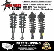 Full Set New 4 Front And Rear Complete Strut Assemblies Ford Suv Lifetime Warranty