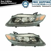 Halogen Headlight Lamp Assembly Lh Rh Pair For Honda Accord Coupe 2.4l New