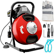 Vevor 50ftx1/2in Sewer Snake Drain Auger Cleaner Electric Drain Cleaning Machine
